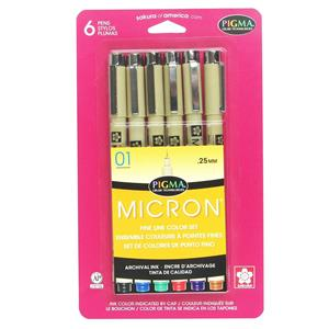 Sakura of America Pigma Micorn 01 Pen, 6 Pack: Picture 1 regular
