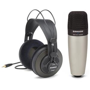 Samson C01 Condenser Microphone with SR850 Headphones Bundle: Picture 1 regular