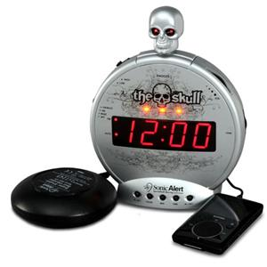 Sonic Alert The Skull Alarm Clock SBS550BC