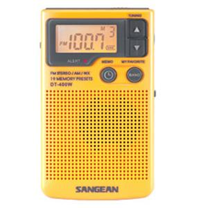 Sangean AM/FM Digital Weather Alert Pocket Radio DT-400W
