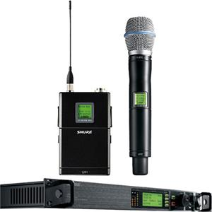 Shure UR124S+/BETA87A-H4 Wireless Combo Microphone System UR124S+/BETA87A-H4