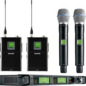 Shure UR124D+/BETA87A-G1 Dual Wireless Microphone Combo System UR124D+/BETA87A-G1