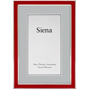 "Tizo Design Siena Narrow Enamel Collection 4x6"" Frame 5120RED-46"