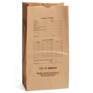 Sirchie Preprinted Kraft Evidence Bags EB001P