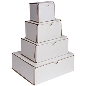 Sirchie Evidence Folding Box, White Corrugated, 7x5x3