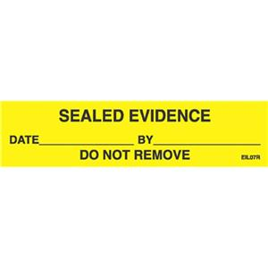 Sirchie Sealed Evidence Labels