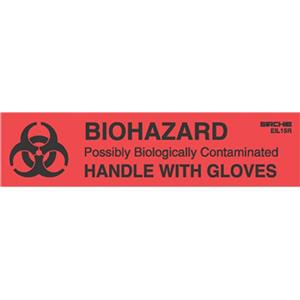Sirchie Biohazard-Handle with Gloves Labels, 1x4
