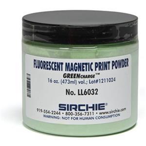 Sirchie GREENCHARGE 16oz Fluorescent Magnetic Latent Print Powder LL6032