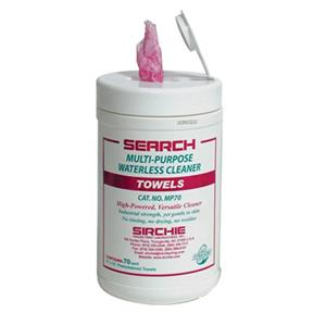 Sirchie Search Multi-Purpose Waterless Cleaner Towelettes