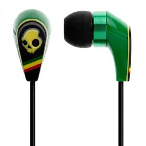 Skullcandy 2011 50/50 In-Ear Stereo Headphones with Mic and Remote, Rasta: Picture 1 regular