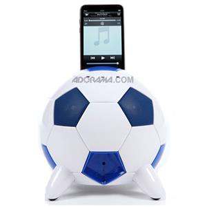 Speakal miSoccer iPod Docking Station, Blue/White: Picture 1 regular