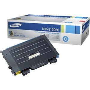 Samsung CLP-510D5C Cyan Color Laser Toner Cartridge: Picture 1 regular