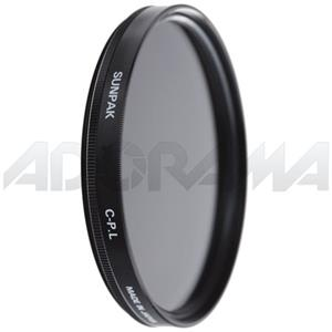 Sunpak 37mm Circular Polarizer Filter CF7051CP