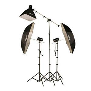 Smith-Victor Fl170k Flashlite Basic Studio 3 Light Soft Box Kit 402330 A