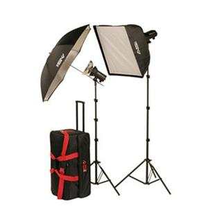 Smith-Victor FL400K Strobe Light BUNDLE w/2 x FLC200 Flashlites & 24x24