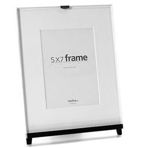 Swing Easel Wood Frame,Stand for 8x10in Photo, Black: Picture 1 regular