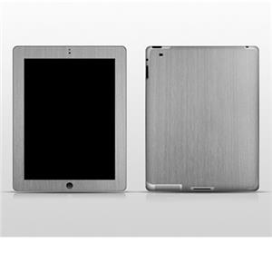 SlickWraps Metal Series Brushed Full Body Wrap for iPad 2, Stainless Steel: Picture 1 regular