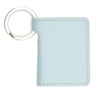 Swing Key Chain Plastic 2x3in Photo Holder, Aqua Color: Picture 1 regular