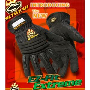SetWear EZ-Fit Extreme Gloves Pair Medium (Size 9) Approximatly 3.5-4