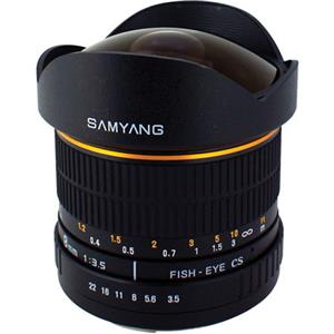 Samyang 8mm Ultra Wide Angle f/3.5 Fisheye Lens SY8MAE-N