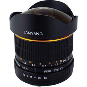 Samyang 8mm Ultra Wide Angle f/3.5 Fisheye Lens SY8M-S