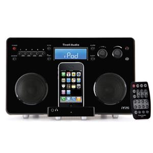Tivoli Audio IYIYIBS High-Fidelity AM/FM Stereo System, High Gloss Black/Silver: Picture 1 regular