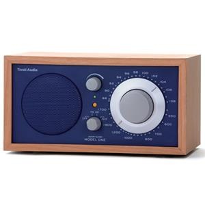 Tivoli Audio Model One M1BLU AM/FM Table Radio, Cherry/Cobalt Blue: Picture 1 regular