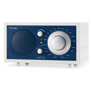 Tivoli Audio Frost White Collection Model One M1FWAB AM/FM Radio, White/Blue: Picture 1 regular