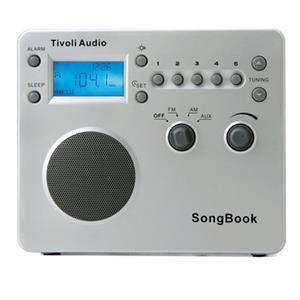 Tivoli Audio SongBook SBSLV AM/FM Alarm Clock Travel Radio
