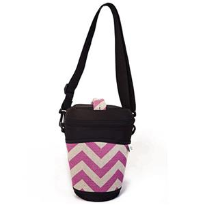The Joy Bag Glee Bag - Mystical Chevron (Fuschia/Beige): Picture 1 regular