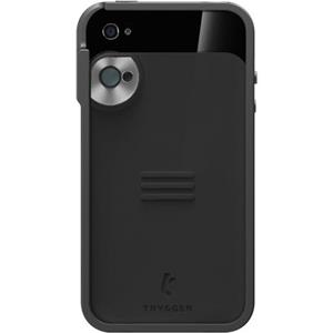 Trygger Camera Case for iPhone 4/4S - Black, with Polarizer Filter: Picture 1 regular
