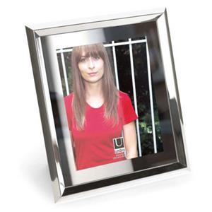 Umbra Duvell Molded Photo Frame for 5x7in Photo, Chrome: Picture 1 regular