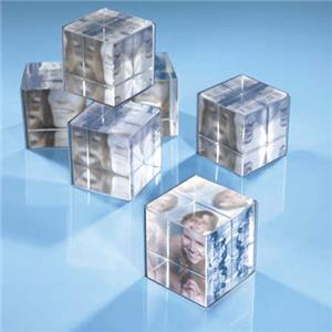 Umbra Ice Clear Acrylic Cube for 3 2.5x2.5in Photo: Picture 1 regular