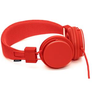 Urbanears Plattan Folding Classic Full Size Headphones w/Zound Plug -Tomato: Picture 1 regular