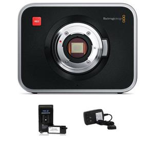 Blackmagic Cinema Camera EF with External Battery and Charger