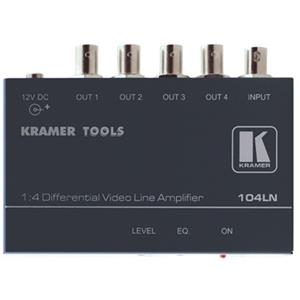 Kramer 104LN 1:4 Composite Video Differential & Line Amplifier 104LN