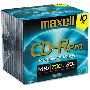Maxell 700 MB CD-R Compact Disc, Jewel Case, Pack of 10: Picture 1 regular