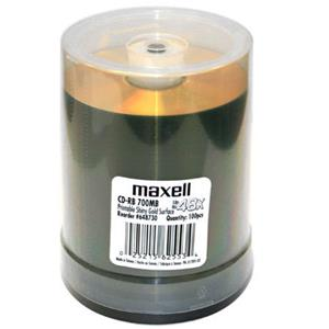 Maxell 700MB CD-R Write Once Gold Thermal Printable Recordable Compact Disc 648730