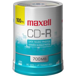 Maxell CD-R 48x Recordable Media 100 Pack Spindle 700MB: Picture 1 regular