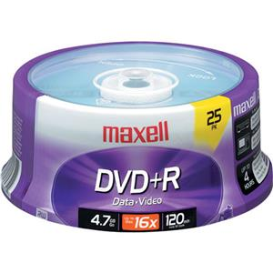 Maxell DVD+R 16x Recordable Media, 25 Pack Spindle: Picture 1 regular