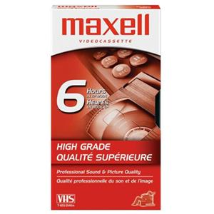 Maxell HG-T120 120 Minute High Grade VHS Video Cassette 224915