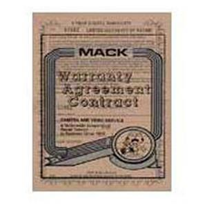 Mack 4 Year Extended Warranty 1042