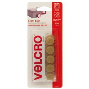 "Velcro 5/8"" Beige Sticky Back Hook and Loop Dot Fasteners 90071"