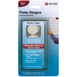 Velcro Removable Poster Hangers, 36 Count: Picture 1 regular