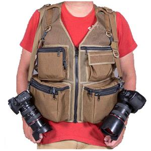 The Vest Guy M&M Travel Photography Vest, Large, Olive Mesh: Picture 1 regular