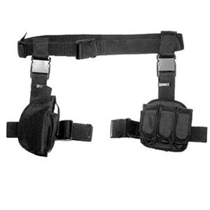 NcSTAR Vism 3pcs Drop Leg Gun Holster and Magazine Holder, Black: Picture 1 regular