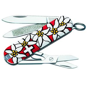 Victorinox Swiss Army Classic Edelweiss Pocket Knife, Red: Picture 1 regular