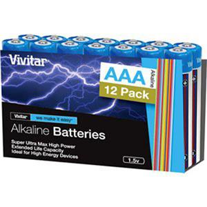 "Vivitar Super Ultra Max High Power ""AAA"" Alkaline Batteries VIV12AAAALK"