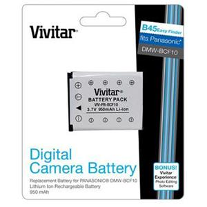 Vivitar Replacement Rechargeable Lithium Battery VIVPBBCF10