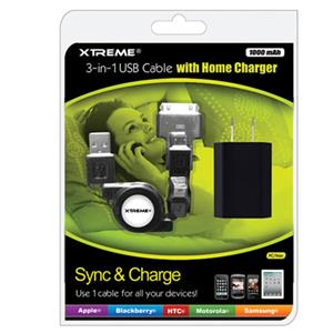 Xtreme Cables 3-in-1 USB Cable 88202